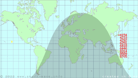 ShortWave Radio Frequency Schedule For Site Ichihara - Ichihara map